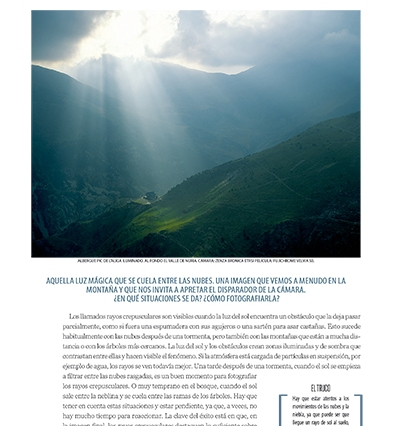 """La nueva sección sobre fotografía de la revista """"El Mundo de los Pirineos"""""""